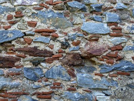 old brick and stone mixed wall