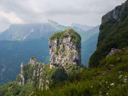 Apuan Alps - view of Mount Procinto from Callare di Matanna