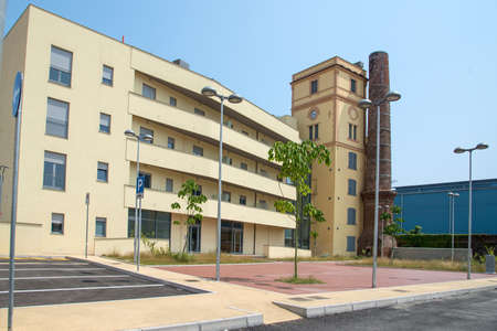 urban redevelopment: urban redevelopment of an old cotton mill