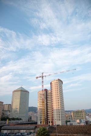 genoa: building in Genoa, close to the port