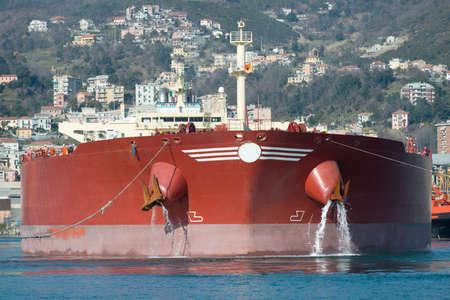 just arrived: tanker had just arrived in port