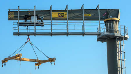 boat lift crane photo