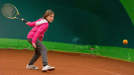 children to tennis school photo