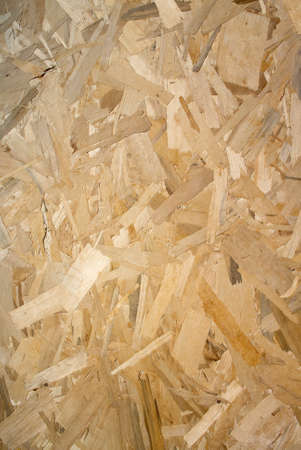 Particle board often used on construction sites photo
