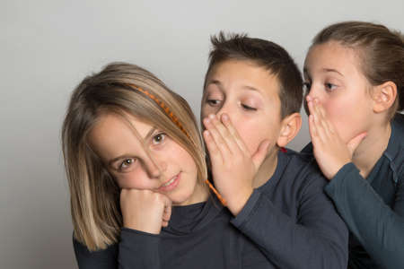 disclose: Children who whisper a confidence to a child