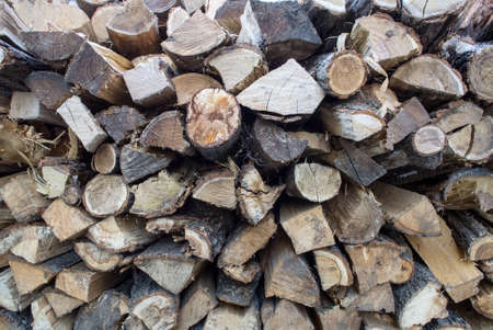 neatly stacked: stack of firewood neatly stacked