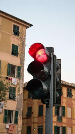 rote ampel: red light used for road Lizenzfreie Bilder
