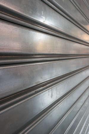 closing time: metal gate during closing time