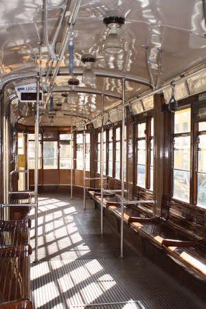 Inner Italian tram waiting for passengers Editorial