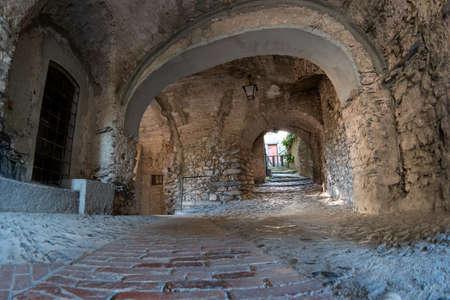 Triora ancient village located in the Ligurian hinterland, Italy.