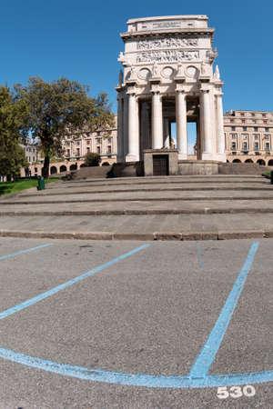 Famous Piazza di Genova commemorating the victory.