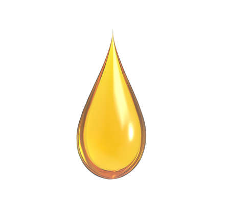 drop of oil with white background Stock Photo