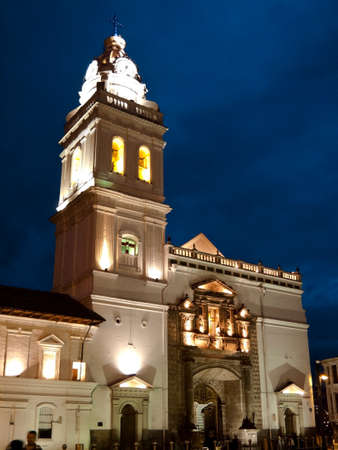 the humanities landscape: Church of Sto. Domingo in Quito Stock Photo