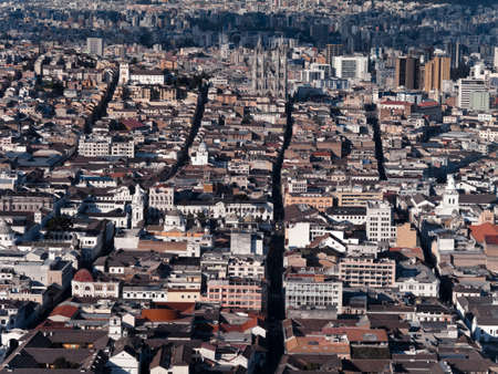 the humanities landscape: Center Quito from Panecillo