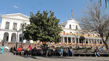 the humanities landscape: Carondelet Palace, the seat of government of Ecuador Editorial