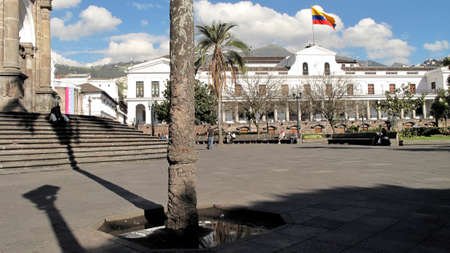 presidency: Independence Square and Government Palace in Quito Editorial