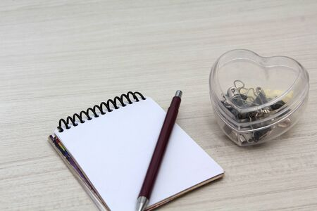 notebook on the table with notepad