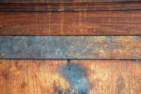 Defocused background texture of an old wood panel consisting of boards or planks for a vintage or rustic themed concept.