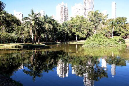 GOIANIA, GOIAS, BRASIL - JULHO 24, 2019: mad cow park lake