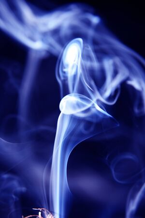 white and blue smoke on black purple background with abstract texture