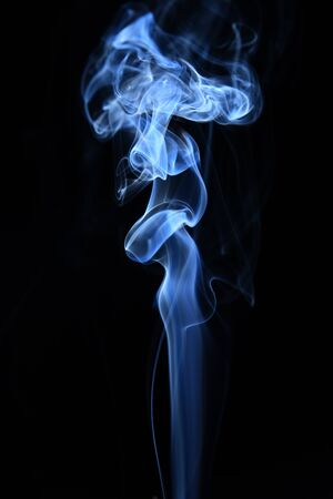 white and blue smoke on black background with abstract texture Zdjęcie Seryjne