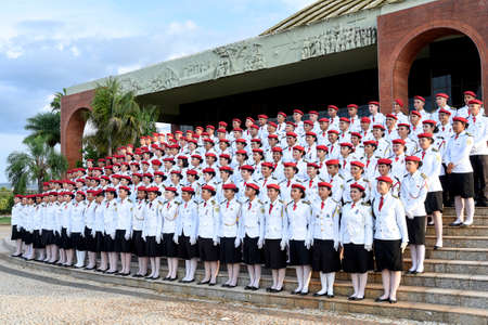 graduation of young academics from the military police college of the state of Tocantins
