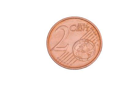 twee cent gratis gesneden Stockfoto