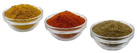 glass filled with pepper curry and paprika photo