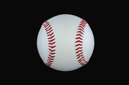 baseball isolated at a black backround cut new photo
