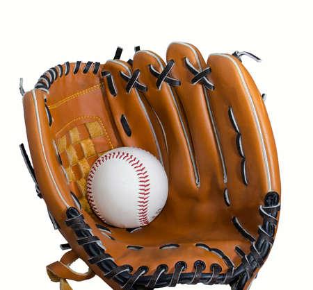 lace gloves: baseball and glove isolatet at white backround