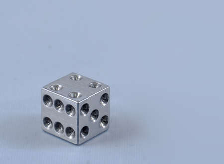 dice made of solid metal photo