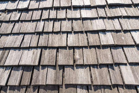 old wooden roof perfectly as backround Stock Photo