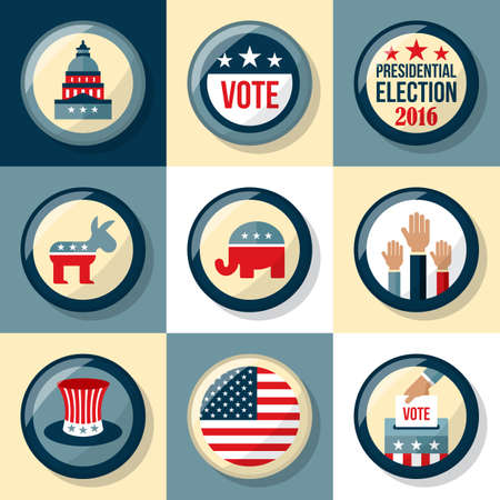 presidential: US presidential election badge set. Presidential election voting concept for web and graphic design