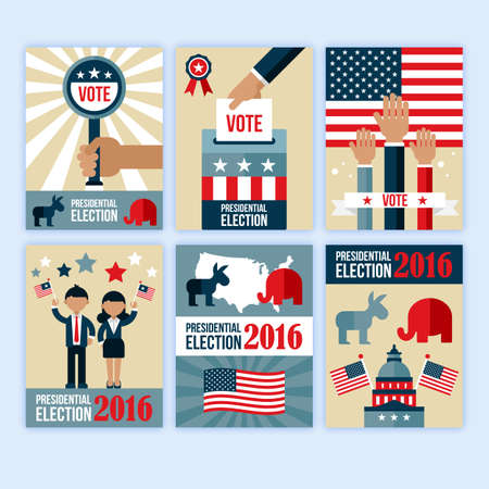 desgn: Presidential election poster desgn set. Presidential election voting concept for web and graphic design