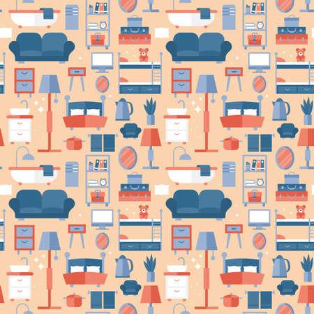 furniture design: Furniture seamless pattern design