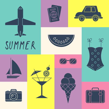 summer holiday: Summer holiday icons for design Illustration