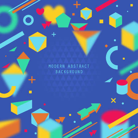 geometrical shapes: Modern abstract background with geometrical shapes