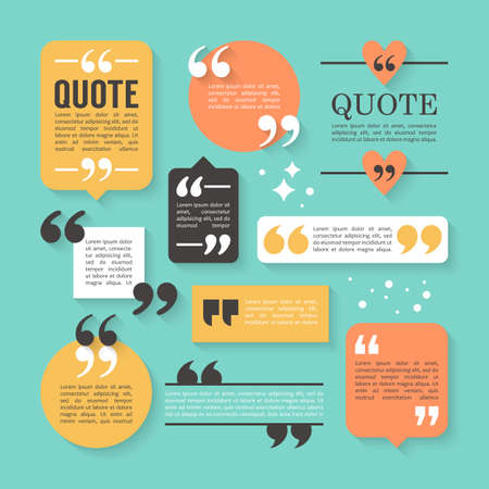 Modern Block Quote And Pull Quote Design Elements. Creative Quote ...