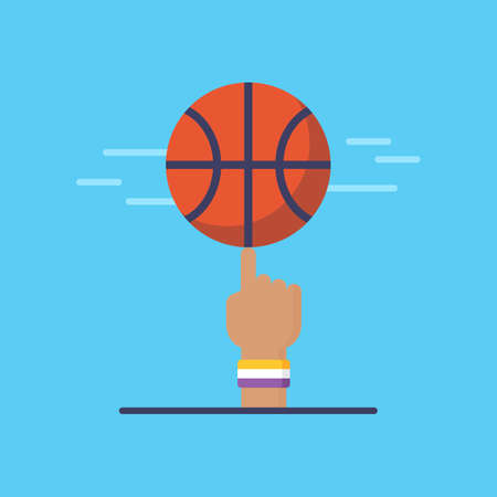 Basketball emblem and design. Flat modern basketball icon. Isolated vector illustration Illustration