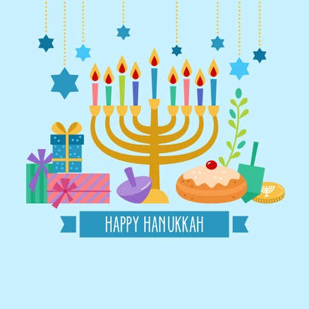 gelt: Hanukkah jewish holiday banner design