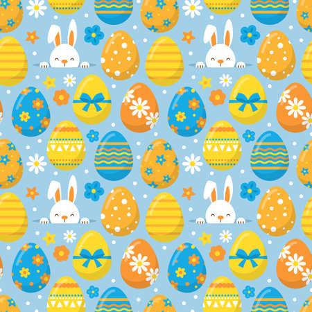 vacanze di Pasqua senza soluzione di continuità di fondo del modello per la progettazione grafica e web Vettoriali