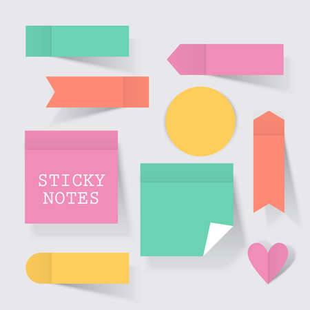 Colorful business sticky notes set for concept design.