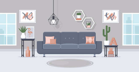 Modern living room interior design concept.