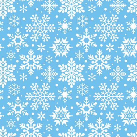 Christmas snowflakes pattern.