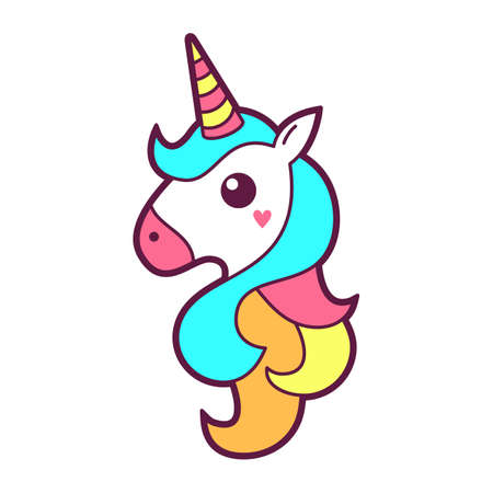 Unicorn icon design. Vector illustration. Иллюстрация