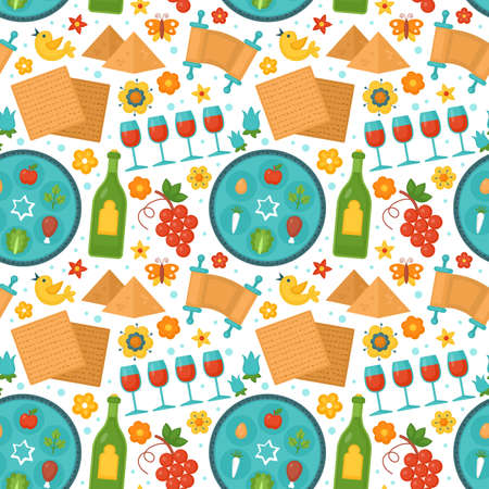 Passover holiday seamless pattern background