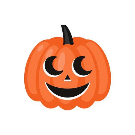 Cute Halloween jack o lantern pumpkin character. Flat style cartoon illustration Ilustrace