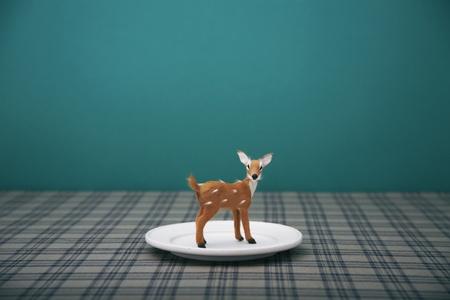 bambi on the dish Stock Photo - 9446985