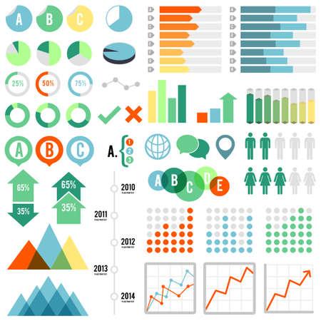 percentages: Infographics Set - Set of infographic elements