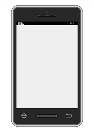 touchpad: Vector Smartphone - Realistic vector smartphone design   File is isolated on white background